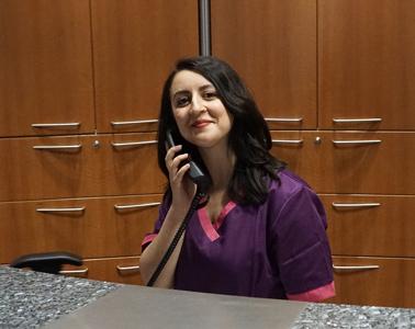 Die medizinischen Fachangestellte Laura Allia