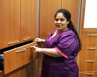 Die medizinischen Fachangestellte Zahra Chahid